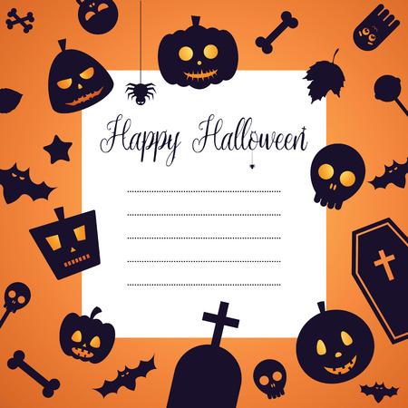celebration party: Halloween Celebration Night Party Invitation Card Background