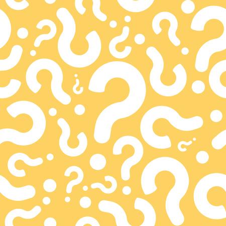 Naadloze Vraagteken Dialog Achtergrond van het Patroon