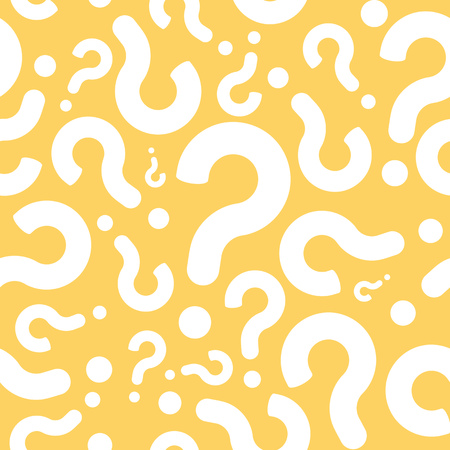 Seamless Question Mark Dialog Pattern Background Çizim