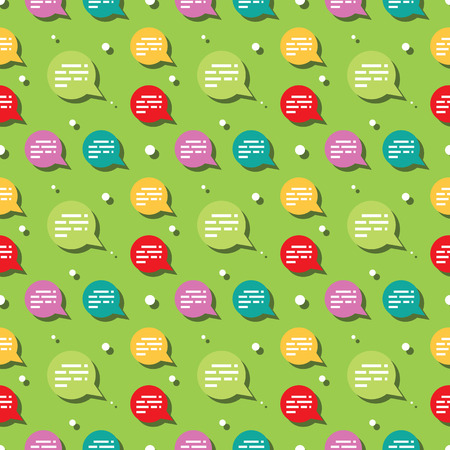 Chat Sign Dialog Bubble Seamless Pattern Background
