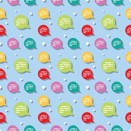 Chat Speech Bubble Symbol Seamless Pattern Background Illustration