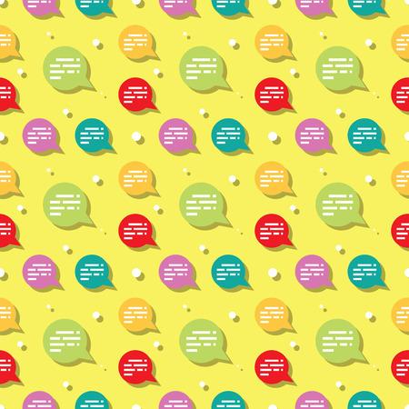 Chat Speech Bubble Sign Seamless Pattern Background
