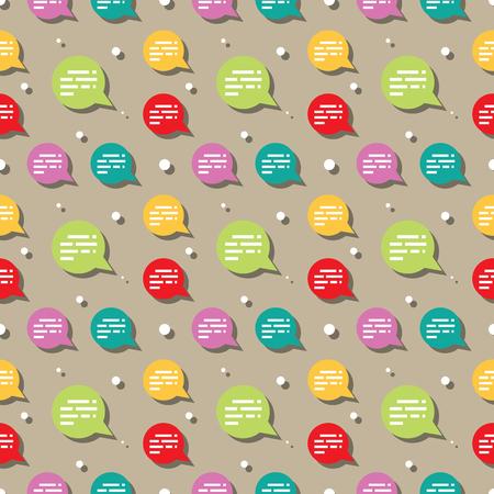 Chat Sign Speech Ballon Seamless Pattern Background