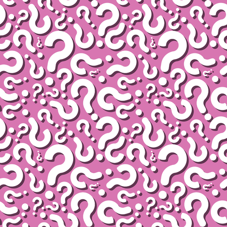 Question Ask Sign With Shadow Seamless Pattern