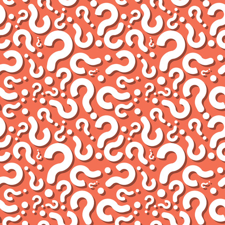Question Sign With Shadow Seamless Pattern Background