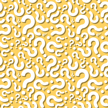 Question Mark With Shadow Seamless Pattern Background