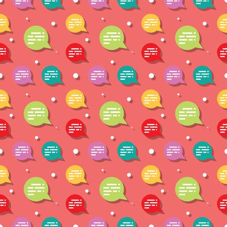 Chat Dialog Speech Bubble Seamless Pattern Background