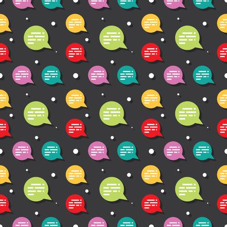 Chat Speech Dialog Bubble Seamless Pattern Background