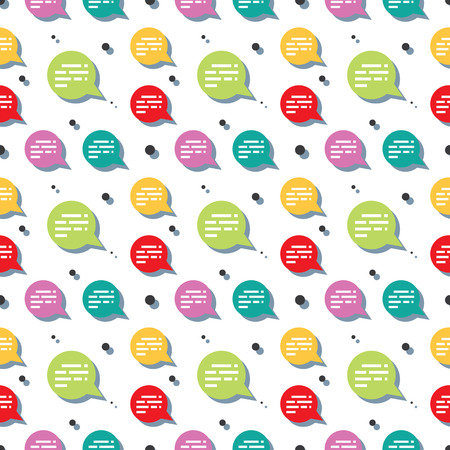 Chat Speech Bubble Clear Seamless Pattern Background