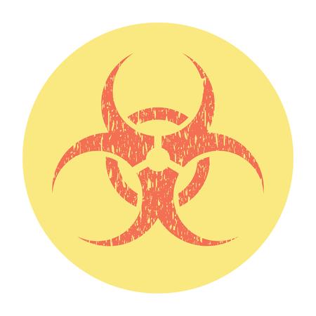 Biohazard Risk Warning Sign Grunge Style Scratches