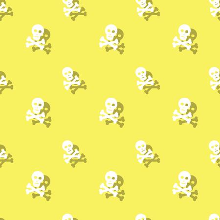 Skull And Bones Halloween Party Seamless Pattern Background Illustration