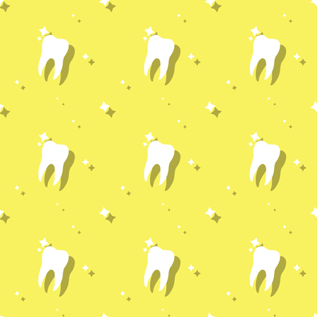 Dentist Molar Tooth Care Seamless Background Pattern