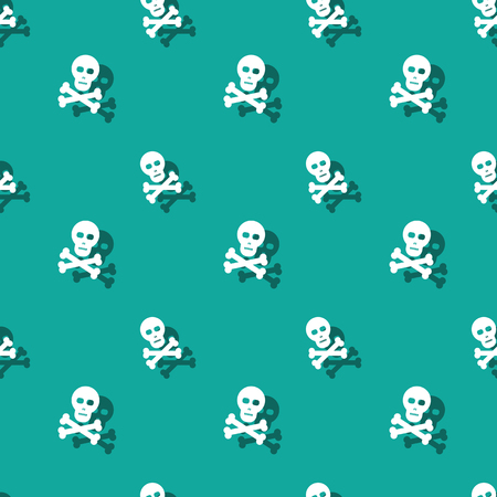 Skull And Bones Halloween Party Seamless Decorative Pattern Background