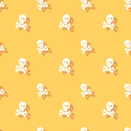 Skull And Bones Seamless Decorative Pattern Background