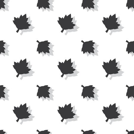 Maple Leaf Floral Seamless Pattern Nature Clear Background