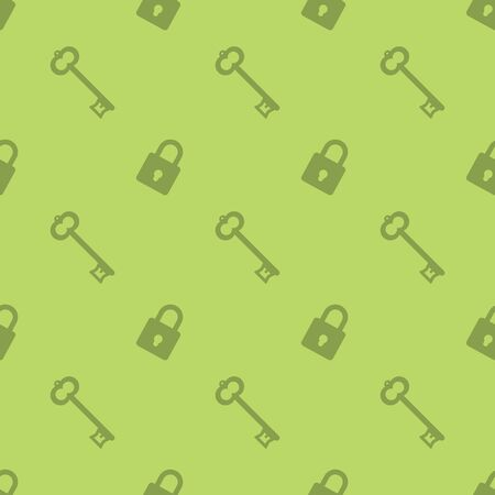 Key And Security Lock Seamless Pattern Silhouette Background