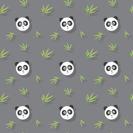 Panda Cute Animal And Bamboo Seamless Pattern Background