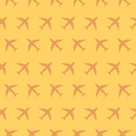 Airplane Commercial Aviation Traveling Seamless Silhouette Pattern Background