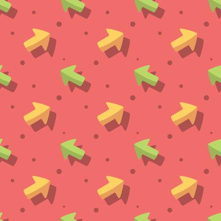 Arrow Symbol Cute Style Seamless Pattern Background