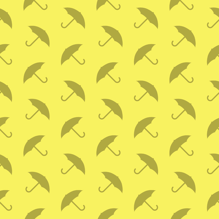 Umbrella Protection Seamless Decorative Or Fabric Pattern Silhouette Background
