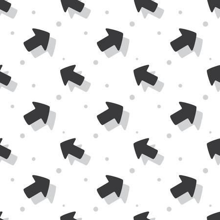 Arrow Navigation Symbol Cute Style Flat Seamless Clear Background Pattern Ilustração