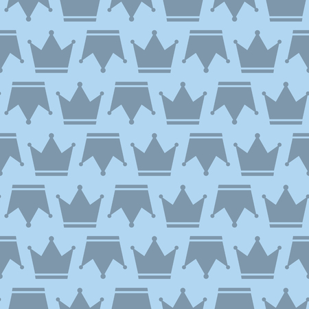 Crown Prince And Pincess Royal Symbol Seamless Silhouette Pattern Background