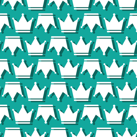 Crown King And Queen Royal Symbol Seamless Pattern Background Ilustração