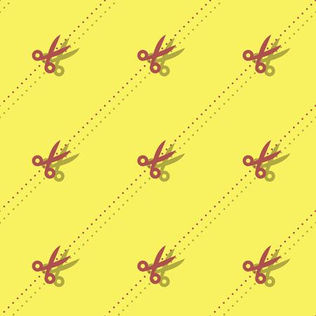 Scissors And Dots Barber Seamless Accessory Pattern Background Ilustração