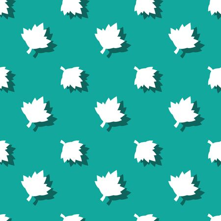 Maple Leaf Symbol Floral Seamless Nature Pattern Background