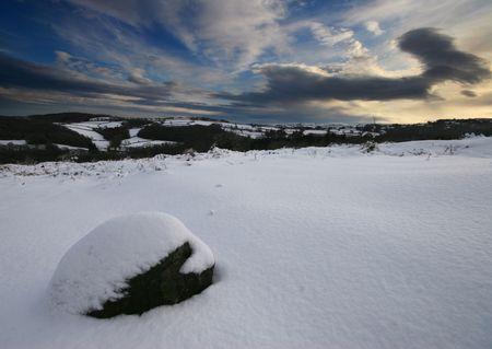 Fresh snow on Dartmoor photo
