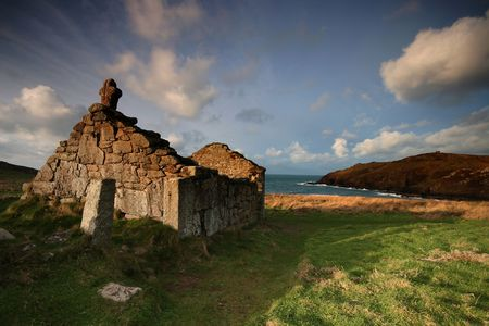 the national trust: The ancient small place of worship on Cape Cornwall is called St Helens Oratory it is an early example of Christian worship, although sadly now it is no longer in use, it is cared for by the National Trust.