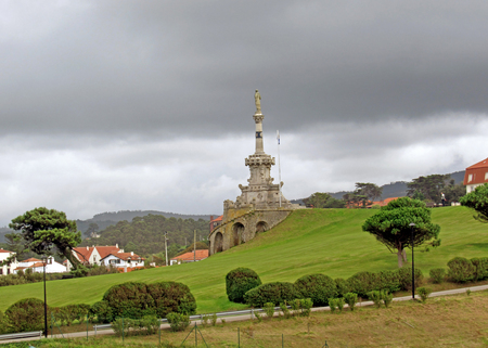 Comillas small township in Cantabria, the Major Christian pilgrimage route Camino de Santiago, the Way of Saint James, along the Northern coast of Spain