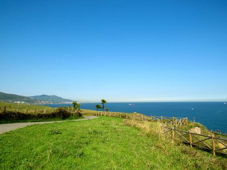 Coastal road of Pobena, Euskadi, along the Northern coast of Spain
