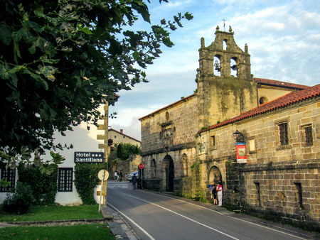 Church in Santillana del mar, Camino del Norte, the Coastal way of Saint James, pilgrimage route along the Northern coast of Spain Redakční