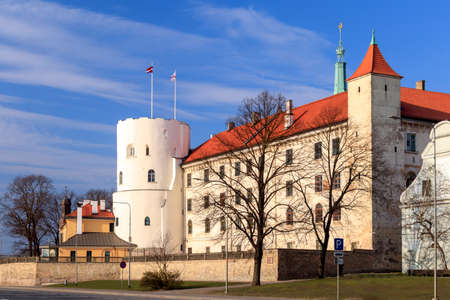 Riga Castle or Rigas pils, Latvian government residence, official residence of the President of Latvia as well as home to several museums on the banks of River Daugava in Riga, the capital of Latvia