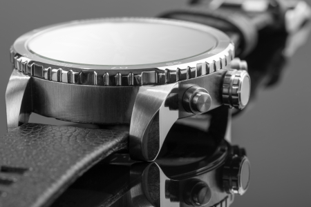 Macro view of expensive watch photo