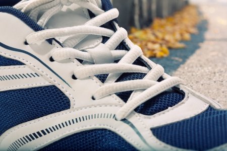 idea comfortable: Closeup view of sport shoe Stock Photo