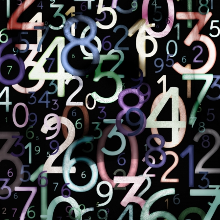 binaries: Abstract colorful numbers. Use for background or texture Stock Photo