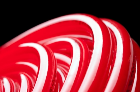 potable: Close-up view of long red water pipe