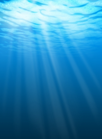 deep water: Blue water ripples underwater. Texture of background Stock Photo