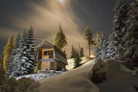 snow house: Night landscape