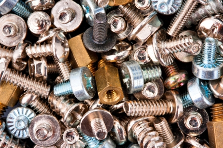 fasteners: Close-up of various screws. Use for background
