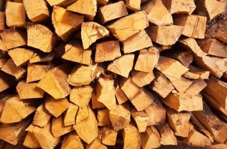 Pile of firewood. Use for background or texture photo