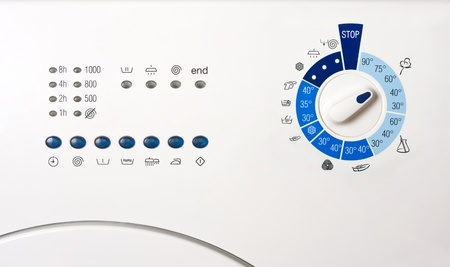 Close-up view of washing machine control panel photo