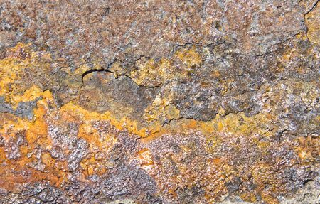 oxidized: Rust. Background or texture