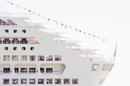 Cruise ship decks and flags photo