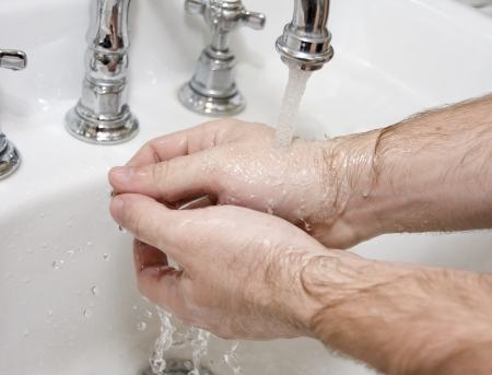 disinfecting: Washing hands