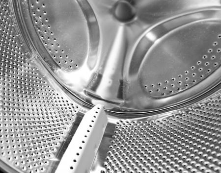 laundry room: Inside the washing machine Stock Photo