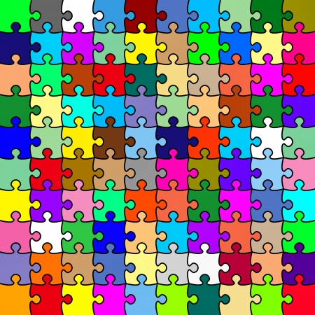 Jigsaw color puzzle. Background or texture photo