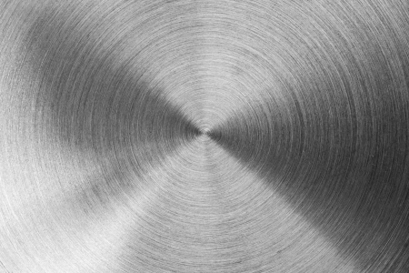 radial background: Radial stainless steel surface. Background or texture Stock Photo